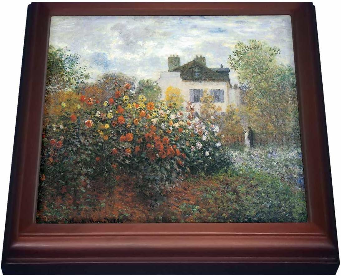 3dRose Monets Garden at Argenteuil Max 90% OFF Trivet 1873 by Monet Claude Long-awaited
