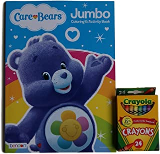 "Care Bears ""Harmony Bear"" Jumbo Colouring and Activity Book with. Crayons"