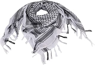 FOCUHUNTER Shemagh Scarf Military Tactical Desert Keffiyeh Scarf Head Neck Scarf Cotton 43x43 inches Colorful Arab Scarves...