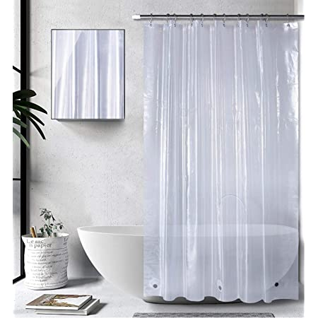 """Bagail Shower Curtain, 72""""x72"""" Clear PEVA Heavy Duty Plastic Bathroom Shower Curtain with 3 Magnets for Shower Stall, Bathtubs, Waterproof, No Smell (PVC Free)"""