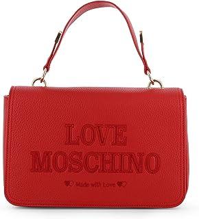 Love Moschino Borsa monomanico con tracolla e patta scritta ROSSO AI19