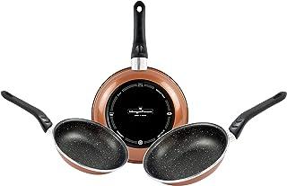 Magefesa COPPER set de sartenes (20/24/28), acero esmaltado vitrificado, en cobre, inducción y lavavajillas