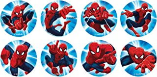 16 Mini discos de azúcar Spiderman 3,4 cm