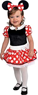 Red Minnie Mouse Halloween Costume for Babies, 6-12 M, Includes Accessories
