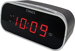 Timex T121B Alarm Clock with 0.7-Inch Red Display (Black)