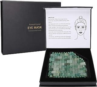 Jade-oogmasker, natuurlijke Jadestone-oogmassager Verzacht vermoeidheid Verminder slapen Relax Care Tool, anti-aging gezic...