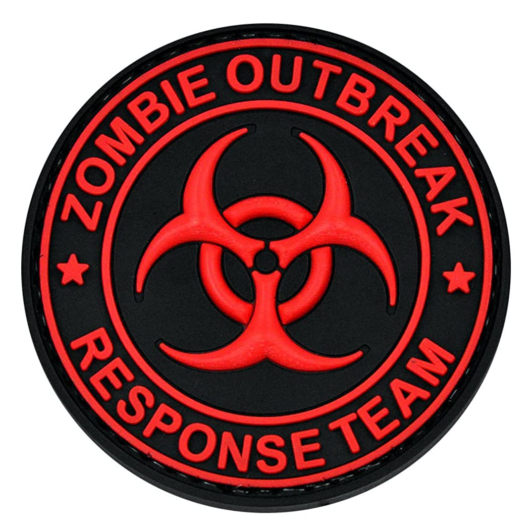 Zombie Outbreak Biohazard Morale 3D PVC Patch Tactical Military Red Black