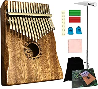 $26 » Luxury Kalimba, 17 Keys Thumb Piano, Professional Finger Piano with Hand-Rest Curve Design, Unique Gift - Ationgle