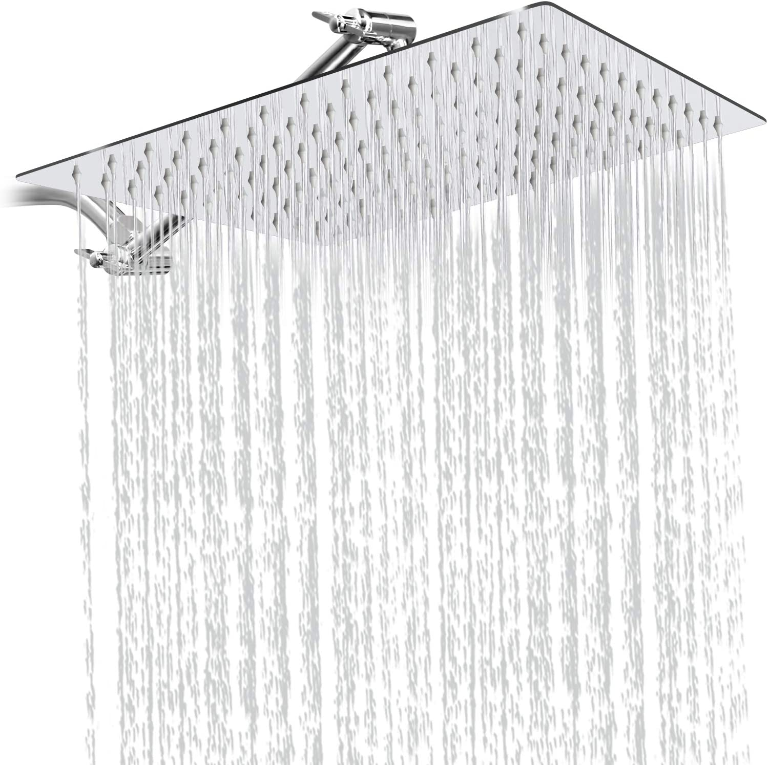 Sooreally Mesa Mall 12 Inch Square Rain Rainfall Head New sales Pressure Shower High