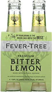 Fever Tree Premium Bitterlemon Soda, 6.8 Fluid Ounce - 4 per pack -- 6 packs per case.