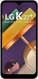 """Smartphone LG K22+ , 3GB Memória, 64GB armazenamento, Dual Chip Android 10 Tela 6.2"""" Quad Core 4G Câmera 13MP+2MP - Titan"""