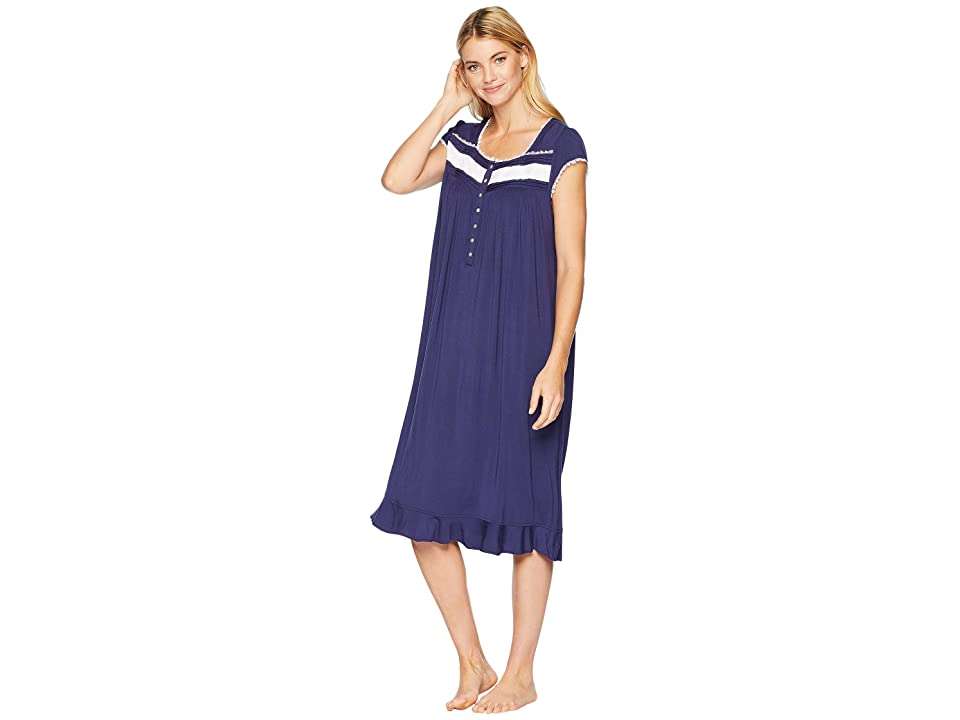Eileen West Ballet Modal Waltz Nightgown (Solid Deep Navy) Women