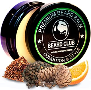 Premium Beard Balm   Mountain Woodsman   The Best Beard Conditioner & Softener to Shape & Style Your Beard, While Stopping Beard Itch & Flakes   Natural & Organic   Great for Hair Care & Growth