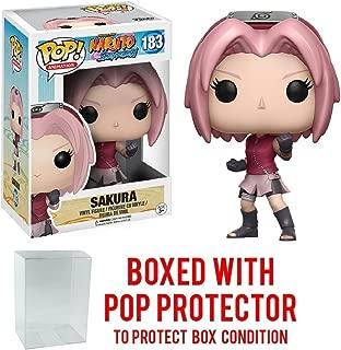Funko Pop! Anime: Naruto Shippuden - Sakura #183 Vinyl Figure (Bundled with Pop BOX PROTECTOR CASE)