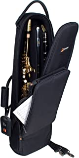 Pro Tec C250 Deluxe Soprano Saxophone/Clarinet/Flute Combination Bag