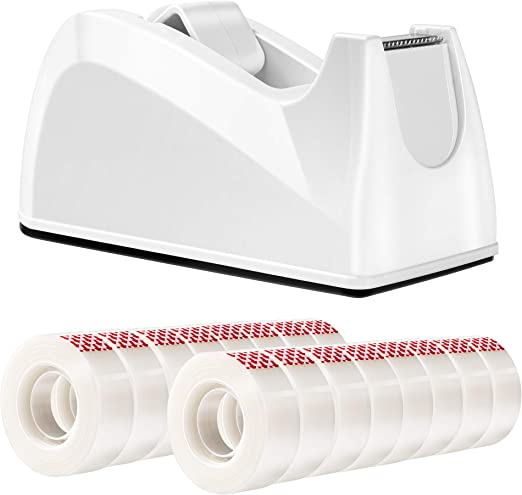 Amazon Basics Invisible Tape with Dispenser, Clear, .75 x 1296 Inches, 16 Rolls