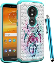 CAIYUNL for Moto G6 Play/Moto G6 Forge Phone Case Dual Layer Shockproof Hybrid Protective Armor Bling Studded Rhinestone Men Women Hard PC &TPU Cover for Motorola Moto G6 Play-Colourful Aeolian Bells