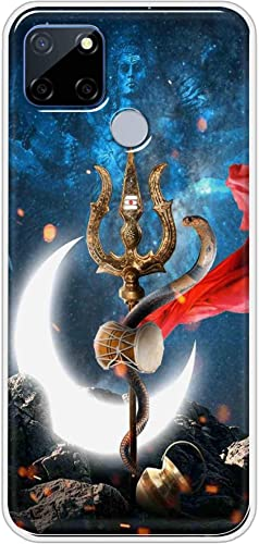 Oye Stuff Lord Shiva Soft Silicone Designer Printed Full Protection Back Case Cover for Realme C12