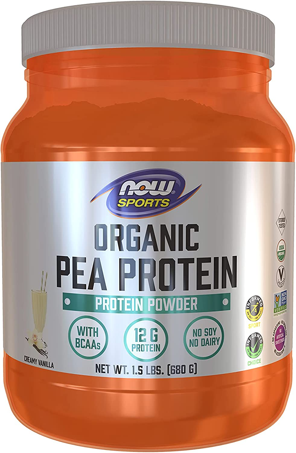 Sales of SALE items from new works NOW Sports Nutrition Certified Organic BC 12g Purchase Pea Protein With