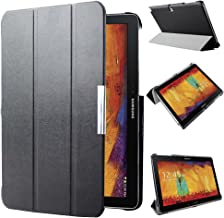 Kuesn SM-P600 P601 P605 Smart Stand Cover Case for Samsung Galaxy Note 10.1 (2014 Edition) Ultra Slim Flip Folio Pu Leather Case Pouch with Magnetic Auto Slepp&Awake up (Black)