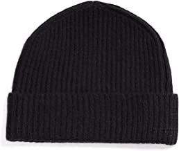Fishers Finery Men's 100% Pure Cashmere Ribbed Cuffed Hat; Ultra Plush