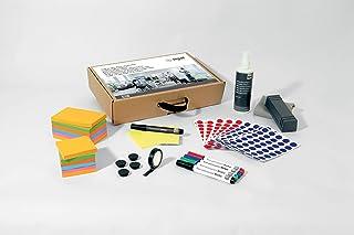 SIGEL MU251 Boîte à outils, mallette de matériel d'animation pour réunions, pour tableau d'affichage agile/mobile, carton ...