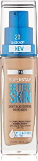 Maybelline New York Super Stay Better Skin Foundation, Classic Ivory, 1 fl. oz.