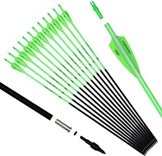 Pointdo 30inch Carbon Arrow Fluorescence Color Targeting and Practice and Hunting Arrows..