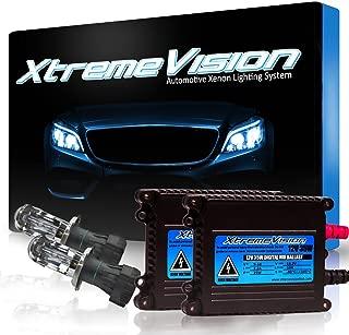 XtremeVision DC 35W Xenon HID Lights with Premium Slim Ballast - Bi-Xenon H4 / 9003 8000K - 8K Medium Blue - 2 Year Warranty