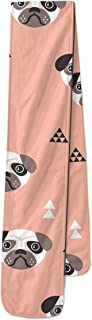 Geometric Pugs Fleece Scarf