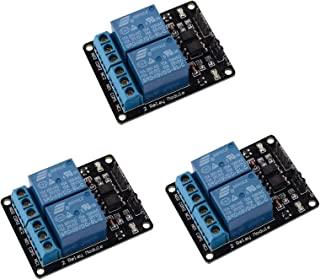ARCELI 3 pz 2 Canali DC 5 V Modulo Relè per Arduino UNO R3 DSP ARM PIC AVR STM32 Raspberry Pi con Optoaccoppiatore Low Lev...