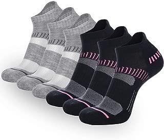 FLYRUN Womens Athletic-Ankle-Socks-Women 6 Pack Performance Cushioned Low Cut Running Tab Socks