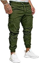 SOMTHRON Elastische tailleband voor heren, lange katoenen joggingbroek, sweatbroek, plus size, mode, sport, cargobroek, sh...