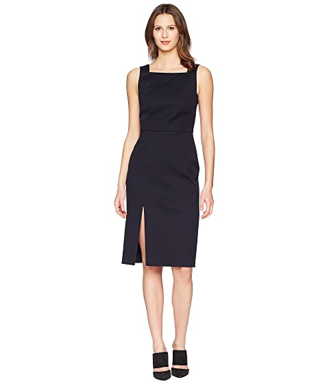 adam lippes double cotton fitted overall dress