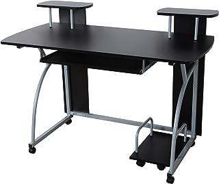 VASAGLE Bureau Informatique, Table Informatique, Meuble de Bureau pour Ordinateur, 120 x 59 x 90 cm LCD812B