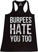 shop4ever Burpees Hate You Too Women's Racerback Tank Top Slim FIT