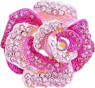 EFHBFWEJH 2 stücke Rosa Blumen Broschen Für Frauen Flamingo Brosche Große Broschen Brosche party dekoration kleidung zubehör