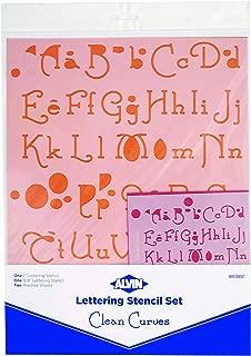 Blue Hills Studio Lettering Stencil 4 Piece Sets-Clean Curves