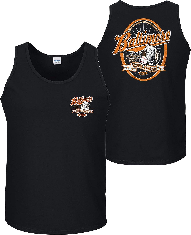 Sm-5x A Drinking Town with a Baseball Problem Navy T-Shirt Or Tank Smack Apparel Atlanta Baseball Fans