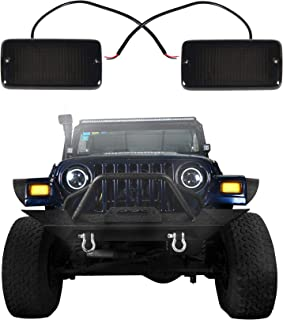 u-Box Smoked Front Turn Signals w/Amber LEDs Indicator Blinkers for Jeep Wrangler TJ 97-06