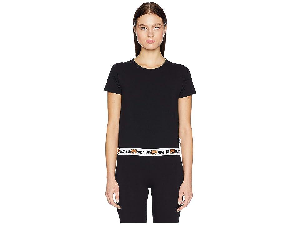 Moschino Jersey Stretch T-Shirt (Black) Women