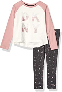 DKNY Girls' Fashion Top and Legging Set (More Styles Available)