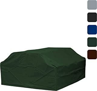 COVERS & ALL Picnic Table Cover 18 Oz Waterproof - 100% UV & Weather Resistant Patio Furniture Cover with Air Pockets and Drawstring for Snug fit (72, Green)