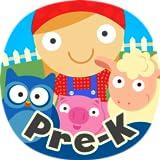 男の子と女の子のための最高のプリKと幼稚園カウント、形状、色、グループ、シーケンス、パターンや数学のゲーム:無料農場でスキルを持つ子供のための動物の就学前の学習ゲーム