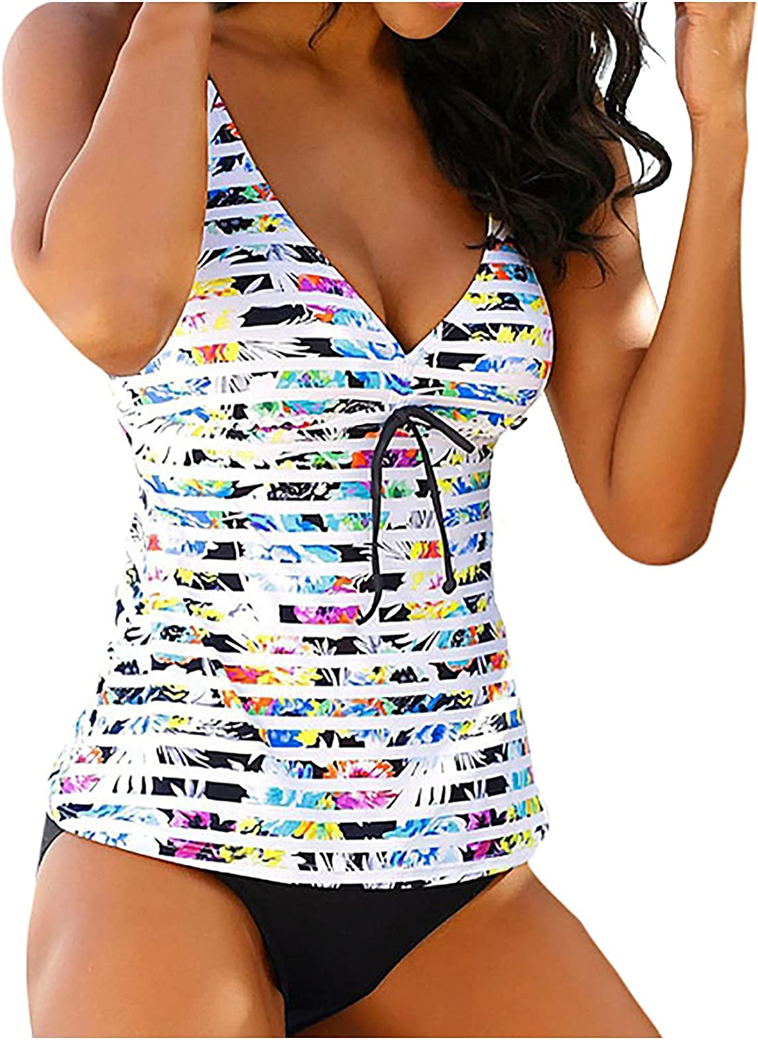 WUHOVILA Tankini Max 40% OFF Swimsuits for Japan's largest assortment Women Pie Beach Control Tummy Two