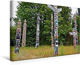 Premium lienzo 45 cm x 30 cm horizontal Stanley Park calvento siesta, imagen sobre bastidor, listo en lienzo auténtico, impresión en lienzo: el indio en el Parque de Stanley (calvento lugar);