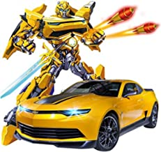 RC Remote Control Sports Car Transforms into Robot Transforming Toys 1:14 Scale Rechargeable