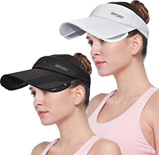 Sports Sun Visor Hats for Women Men Wide Brim Adjustable Summer Golf Tennis Caps UV Protection Hat