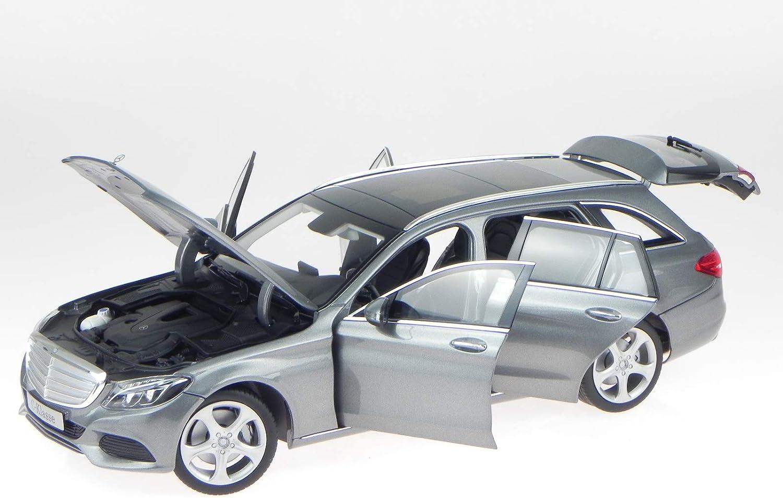 Norev Mercedes S205 C-Klasse T-Modell Exclusive Silber Modellauto 1 18