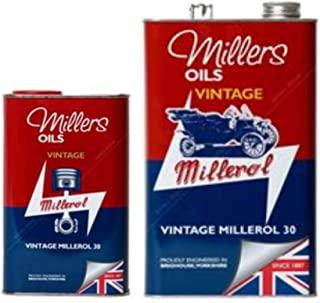 Millers Vintage Millerol 30 - Aceite de Motor sin detergente, 6 litros